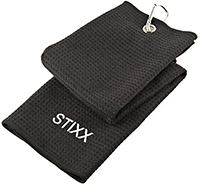 STIXX 33445 Tri-Fold Golf Towel with Heavy Duty Clip