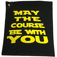 may the course be with you golf towel