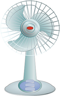 fan for fresh drying air