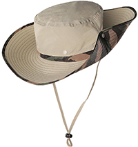 fishing hat for additional eye protection from the sun