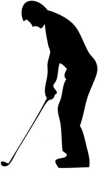 left handed golfer