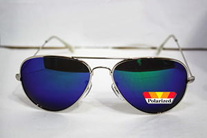 polarized test sticker on sunglasses