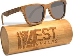 4est shades Wood Sunglasses made from Maple -100% polarized lenses in a wayfarer that floats