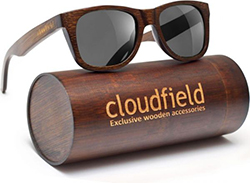 cloudfield Wood Sunglasses Polarized for Men and Women - Bamboo Wooden Wayfarer Style