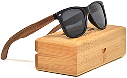 gowood Walnut Wood Wayfarer Sunglasses For Men & Women with Polarized Lenses
