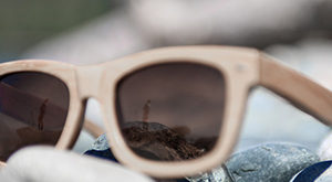 sunglasses with a high quality wooden frame