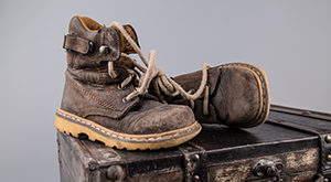 old work boots the need to be replaced by a new pair