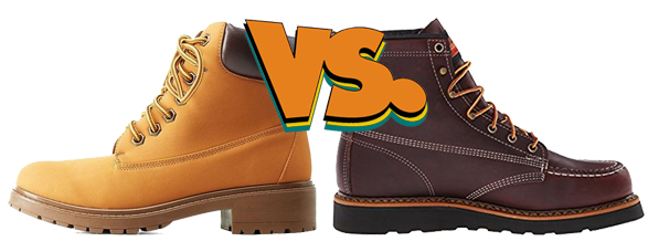 Wedge sole versus heel sole work boots