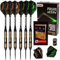 IgnatGames Steel Tip Darts - Professional Darts Set with Aluminum Shafts and Flights + Dart Sharpener + Innovative Case